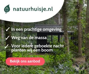 natuurhuisje in het bos banner