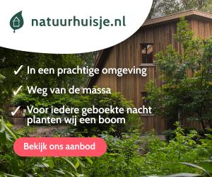 Natuurhuisjes in het bos banner